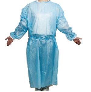 AAMI azul nível 2 PPE descartáveis médicos vestido de isolamento