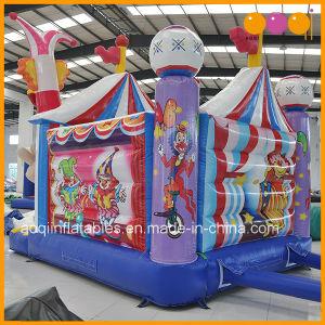 Aoqi juego inflable nuevo payaso de circo Combo Deslice Bouncer (AQ01605)