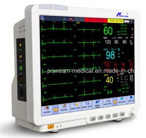 15.1  экранов касания LCD водоустойчивых, сердечный выход, монитор газа ICU Drager терпеливейший