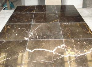 La Chine de carreaux de marbre marron/les dalles de plancher en carreaux mural//comptoirs