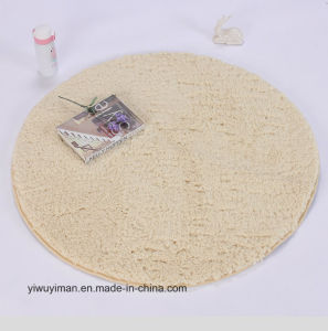 Chinois en soie polyester ou personnalisés ronde Shaggy tapis de plancher à bon marché - Acheter Shaggy tapis ronds ou personnalisé
