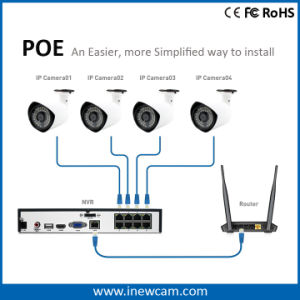 P2P 1080P Cámara IP Bullet Poe con Ce RoHS