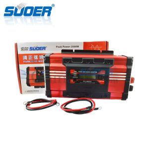 Suoer 1500W 12V 220V fuera de la Red Inteligente de Onda senoidal pura Inversor de potencia con pantalla LCD (FPC-D1500A)