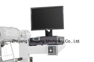 Web estreito autocolante Flexográfica máquina de impressão com Die Corte e lençóis
