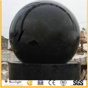 De zwarte Fontein van de Bol van de Fontein van het Gebied van de Fontein van de Bal van het Graniet/van de Steen Rolling
