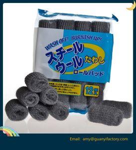 Pastilla de jabón esponja Scrubber de lana de acero inoxidable para la herramienta de limpieza