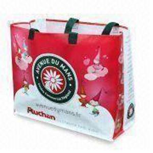 Горячая продажа ламинированных тканого женская сумка для покупок