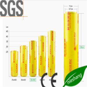 9 Mic FDA mejor los alimentos frescos de silicona de grado Película adherente de PVC Película adherente de PE de frutas