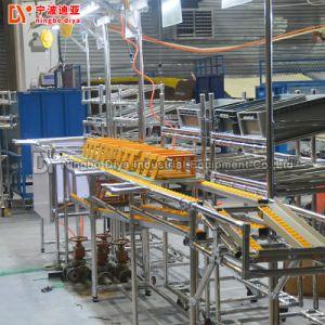 La línea de montaje con el sistema de cintas transportadoras