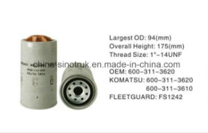Напряжение питания высокое качество Professtional топливные фильтры 600-311-3620 600-311-3610 для Komatsu двигателя