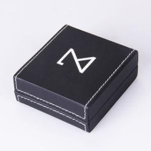 Doos van de Gift van de Armband van het Karton van de douane de Zwarte Vierkante voor Juwelen