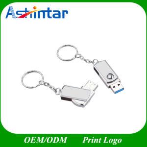 USB3.0 de Schijf van de Flits van Twister USB van de Stok van de Aandrijving USB van de Pen van de Wartel van de Sleutelring van de Aandrijving van de Flits van het metaal USB