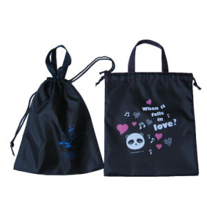 Promoção Ecológico de mochila para roupa suja Saco com fecho de correr frontal Pocket