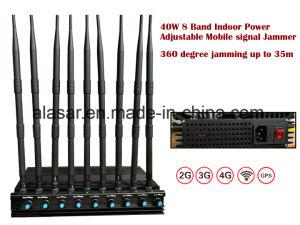 40W de potência móvel ajustável sinal Bluetooth WiFi GPS Jammer