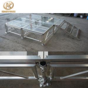 Armazón de aluminio etapa móvil etapa de la boda de la plataforma con acrílico