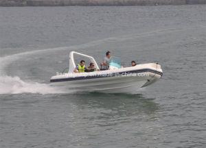 6.2m de Opblaasbare Vissersboot van de Rib van de Glasvezel met Buitenboordmotoren