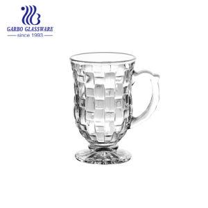 Tazza di vetro pagata termoresistente di Latte del caffè di modo poco costoso (GB090405CX)