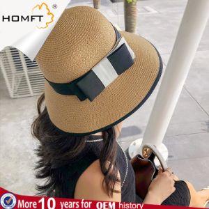Mesdames de l'été de la paille de parasol Lady Fashion Pac du chapeau de paille