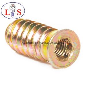 Écrou d'insertion en alliage de zinc/ l'écrou à tête hexagonale