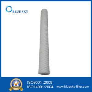 PP plaie de chaîne de l'eau du filtre à cartouche avec 100 microns 20 pouces de long