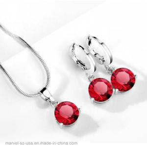Goujon de collier de couleur argent Crystal Drop Earring bijoux mariage fixe