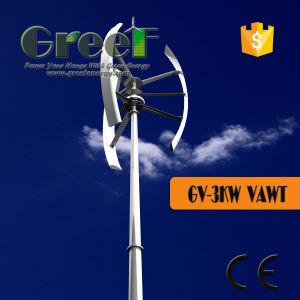 De verticale Turbine van de Wind 3kw met de Vrije Toren van de Tribune