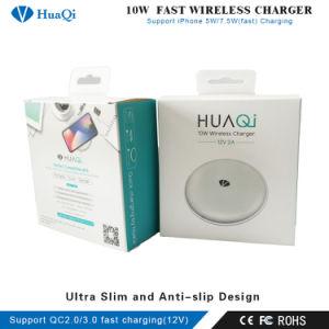 Рекламные раунда Qi-Certified быстрое зарядное устройство для беспроводной зарядки панели / подставка для iPhone/Samsung/Huawei/Xiaomi/LG/Nokia