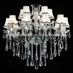 Fashion Hotel lustre de cristal iluminação em elegância preto