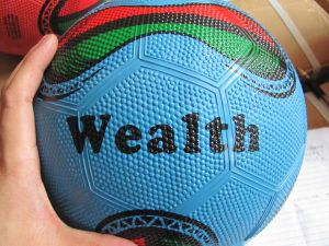 Bola de futebol de borracha para promoção