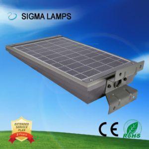 Sigma Smart Installation facile tout en un détecteur infrarouge intégré chargé solaire 20W 30W IP65 Rue lumière LED de jardin