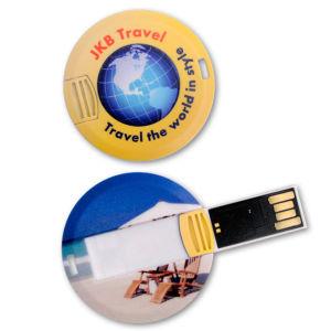 Memoria Flash Delgada Pendrive del USB de la Moneda de la Tarjeta de la Impulsión del USB del Redondo