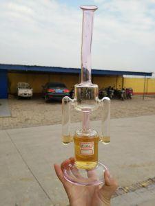 Preiswertester Recycler-Glaswasser-Rohr mit 14.4mm der männlichen Glasfilterglocke