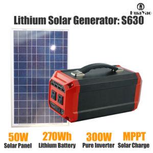 Легкая литий генератора портативный генератор солнечной системы 270WH