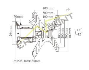 26  - 55 를 위한 수직으로 조정가능한 텔레비젼 마운트, 고전적인 시리즈 텔레비젼 장착 브래킷 (CT-LCD-T501MX)