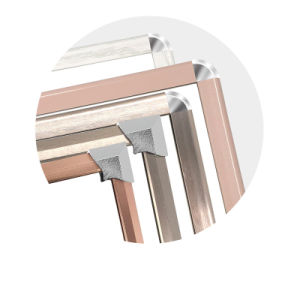 Poignée de sécurité Profil en aluminium composent Miroir de courtoisie