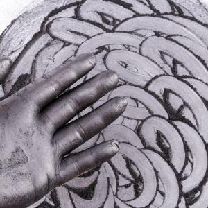 El polvo de grafito conductivo como pintura