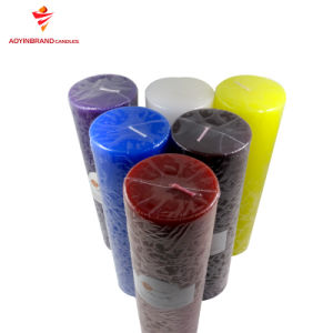 Fábrica de velas de cera de parafina Pilar Branco Unscented Velas/Bougie/candeia