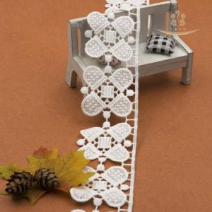 5cmの3D花のレースファブリック刺繍のレース