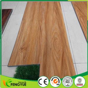 Résistant au feu de bois de cerise profond vinyle PVC gaufré Lvt Cliquez sur les revêtements de sol