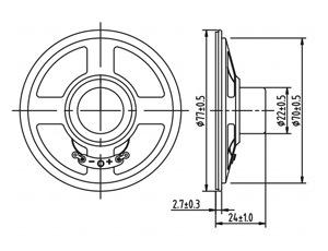 fabbrica Dxyd77n-22z-8A dell'altoparlante dell'automobile del documento dell'allarme di 77mm 8ohm 0.5W migliore