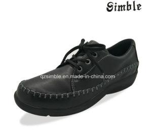 L'aise de jeunes enfants Les enfants de chaussures décontracté de style de chaussures à tige en cuir de PU