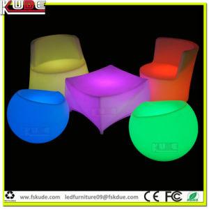 Comercio al por mayor LED iluminado LED heces muebles con control de WiFi