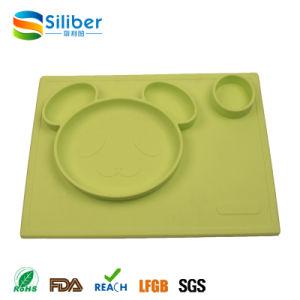 Casquilhos inteiriços, Grau Alimentício Silicone Placemat Infantil Placemat de alimentação do bebé