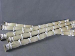 Duplo Branco elaborado Horse Tail cabelo para cabelos de proa