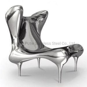 Con Respaldo alto de acero inoxidable muebles de arte moderno sofá Wingback presidente