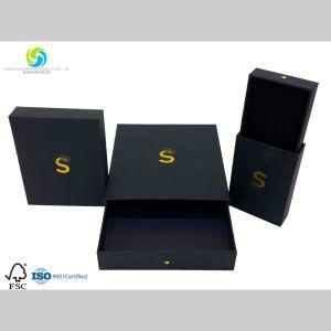 Coffret à bijoux personnalisés pour l'emballage carton noir Bijoux avec