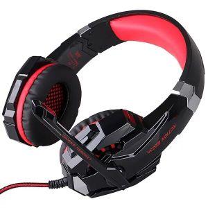 Los juegos de auriculares auriculares Cada G2000 Diadema con micrófono estéreo para PC Juego de luces LED Juego electrónica