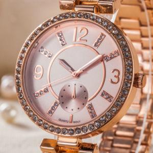 Orologi su ordinazione all'ingrosso della signora Quartz Gift di modo dei monili (WY-17004C)