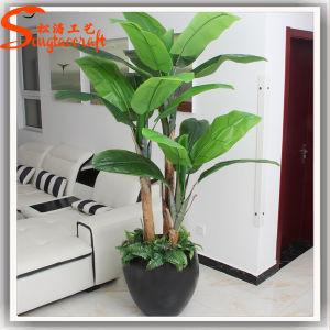 Venda a quente Decoração PU Bonsai Artificial Árvore de plantas de banana