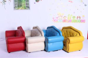 De luxe koninklijke stoel van de kinderen van het leer van pvc van